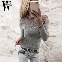 WYHHCJ 2017 New Spring Autumn T Shirt Women Casual Tops Tee Sexy Off Shoulder Women T