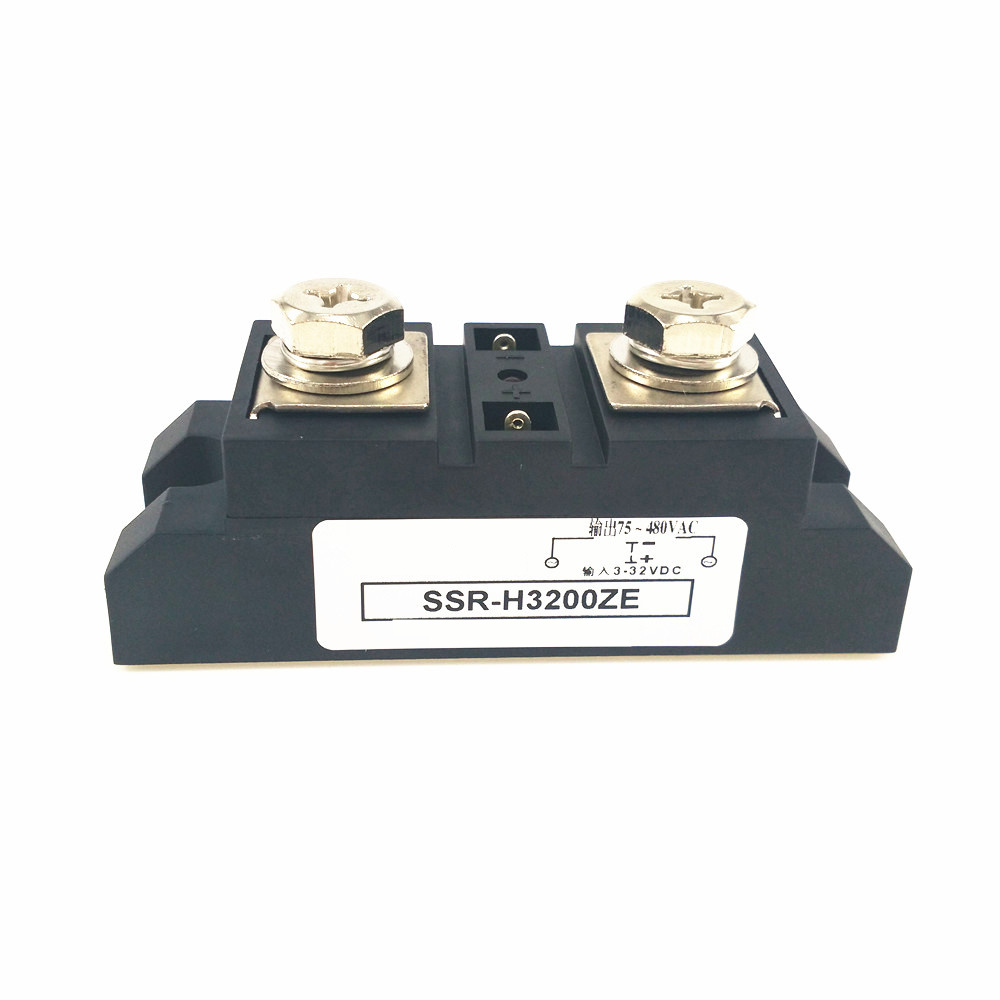 Industrial Solid State Relay 200A DC Vac SSR-H3200ZE SSR-200DA ssr 200a solid state relay 200a industrial 24 480vac 3 32vdc d3 70 280vac a2 high voltage relay solid state relays ssr 200a