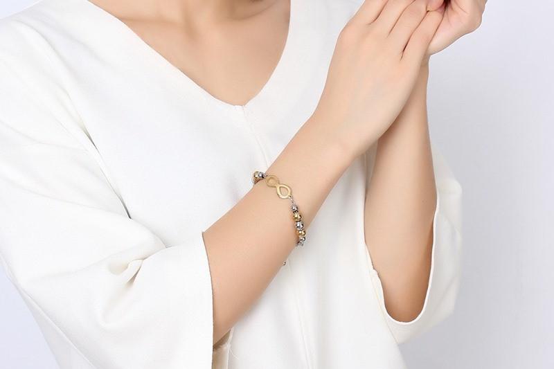 Infinity Shape Charm Luxury Bracelet