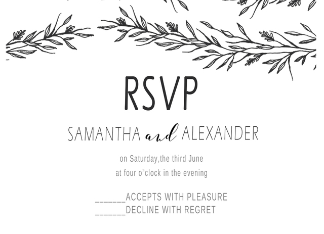 Online Shop 10Pcs BLank Design Flower Print RSVP Cards Wedding – Birthday Rsvp Cards