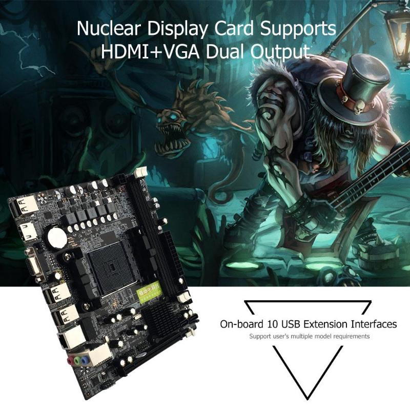 New A55/A58 Computer Motherboard For AMD PCI-E 2xDDR3 4xSATA2.0 Interface 2*DDR3 DIMM FM2/FM2+CPU Interface A88M2 A10 Mainboard