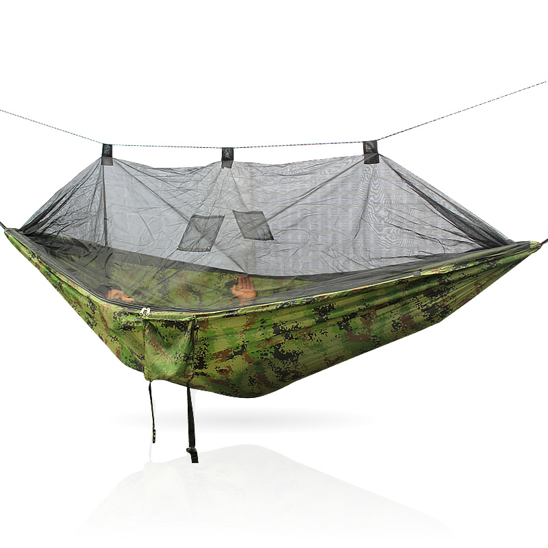 Image 2 - Portable 300 * 140 260 * 140 cm size garden swing, camping bed, anti mosquito hammock. There are various colors to choose from-in Hammocks from Furniture