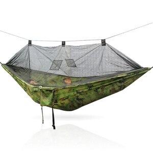 Image 2 - Tragbare 300*140 260*140 cm größe garten schaukel, camping bett, anti moskito hängematte. Es sind verschiedene farben zu wählen aus