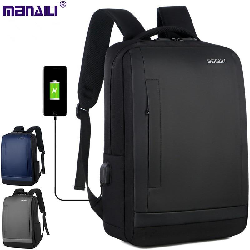 Sac à dos d'affaires multi-fonctionnel pour hommes sac de voyage de grande capacité à eau poorf nouvelle mode avec chargeur USB sac à dos pour ordinateur portable pour hommes