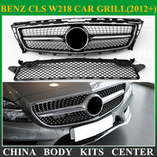 Diamond Style design replacement ABS Front grill mesh for Mercedes 2012-2014 CLS CLASS W218