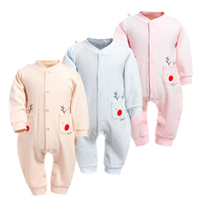 цена на Baby Rompers Boys Girls Thick Long Jumpsuit Cotton Clothing Autumn/Winter Warm Newborn Ropa Infant Little Deer One Piece Clothes