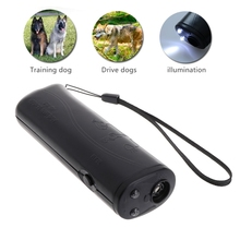 OOTDTY 3 в 1 Анти лай Стоп кора ультразвуковой отпугиватель для собак, тренировочное устройство, тренажер с светодиодный