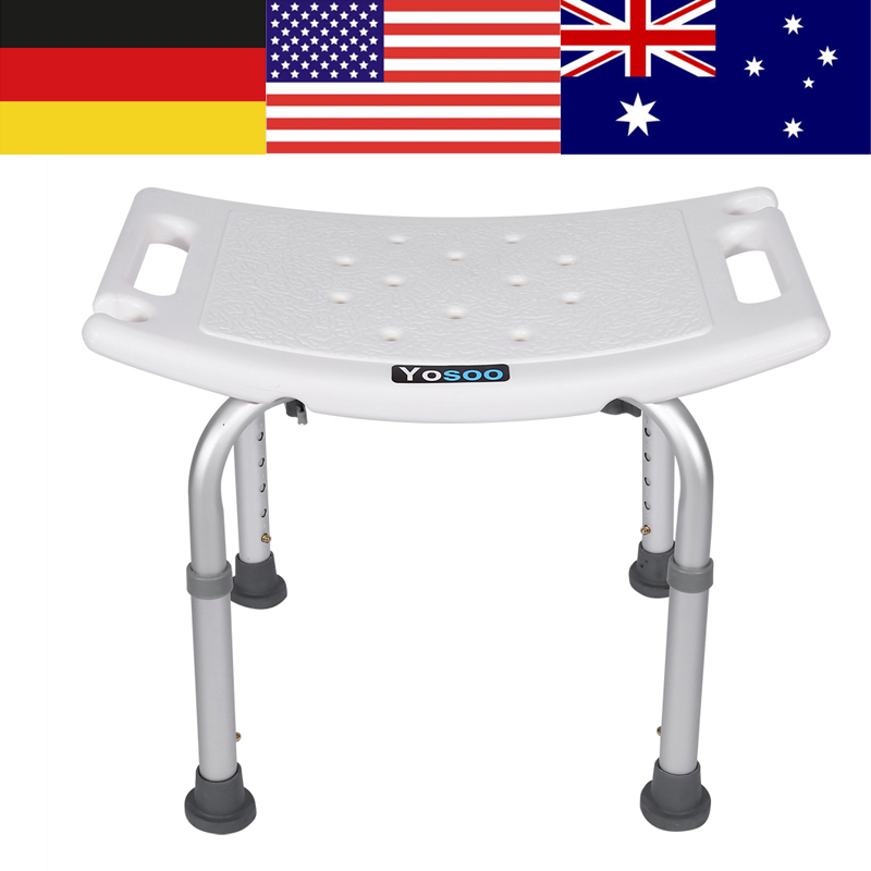 Adjustable Height Bath Shower Foot Stool Lightweight With Non-slip Feet Bath Safety Step Stool  Bathroom Shower Stools
