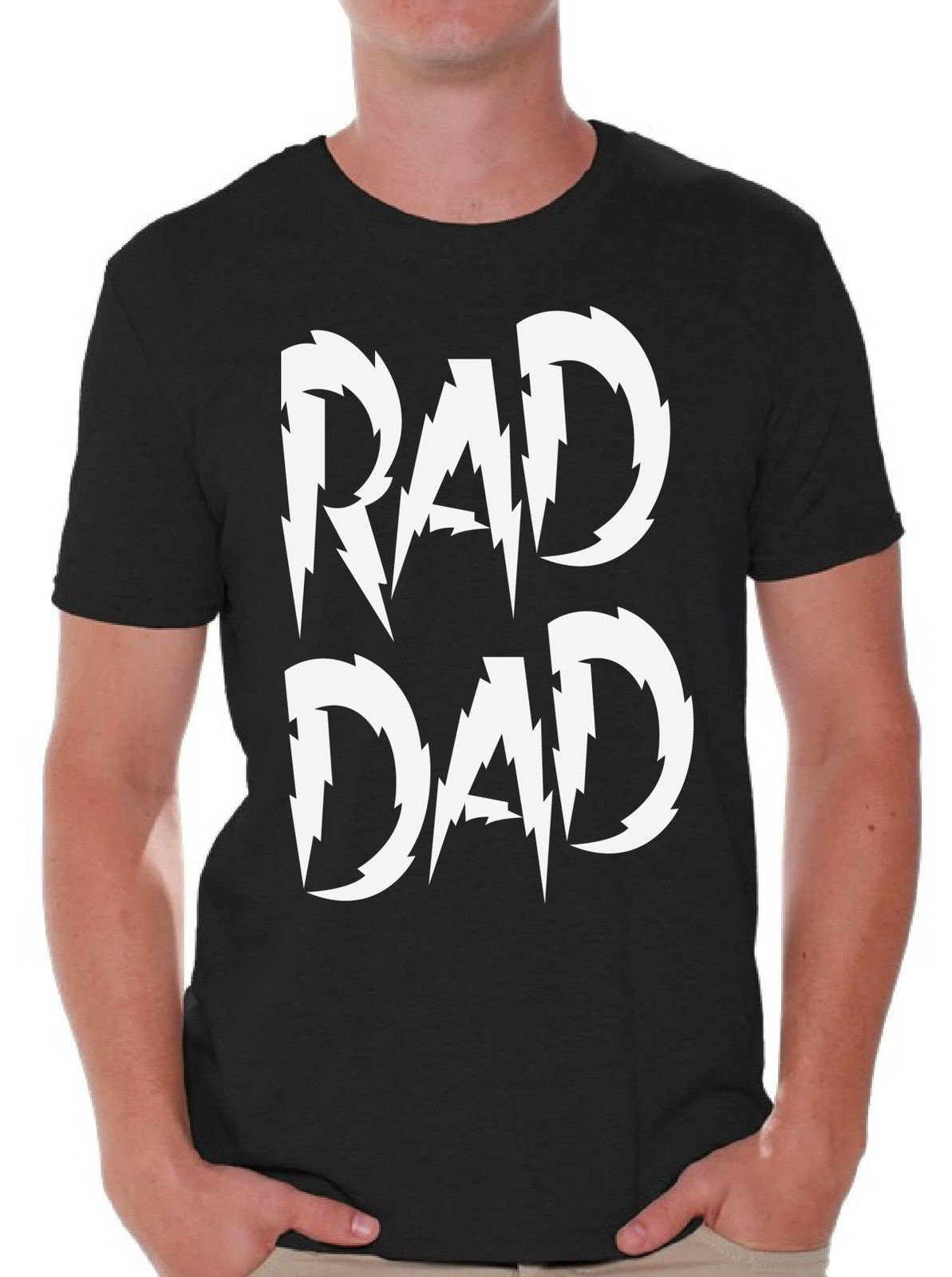 Fashion Men Tshirt Rad Dad Fathers Day T Shirt Tops Gift for Dad Coolest Dad Best Dad Ever O Neck T-shirt