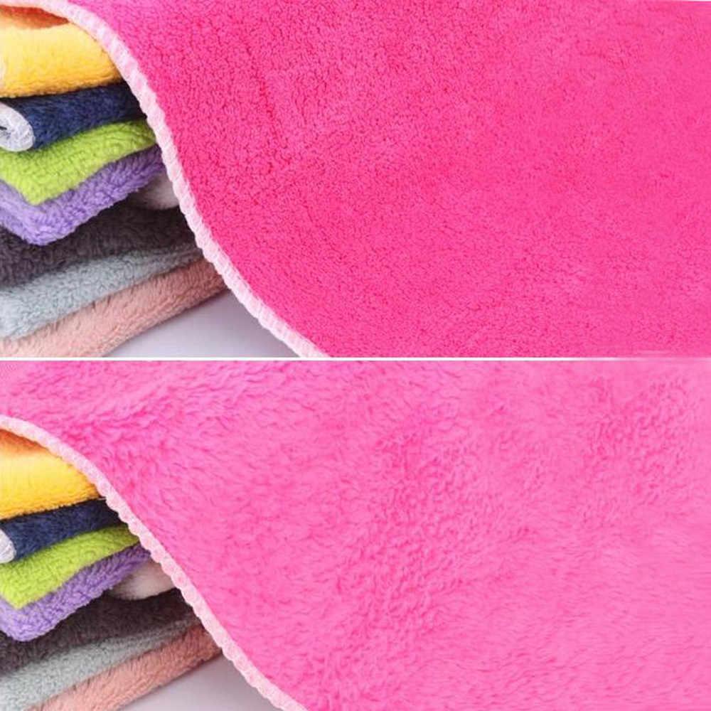 لون منشفة للأطباق القماش الخيزران الألياف غسل منشفة ماجيك المطبخ تنظيف مسح خرقة منشفة للأطباق الألياف صحن غسل منشفة اليد F3
