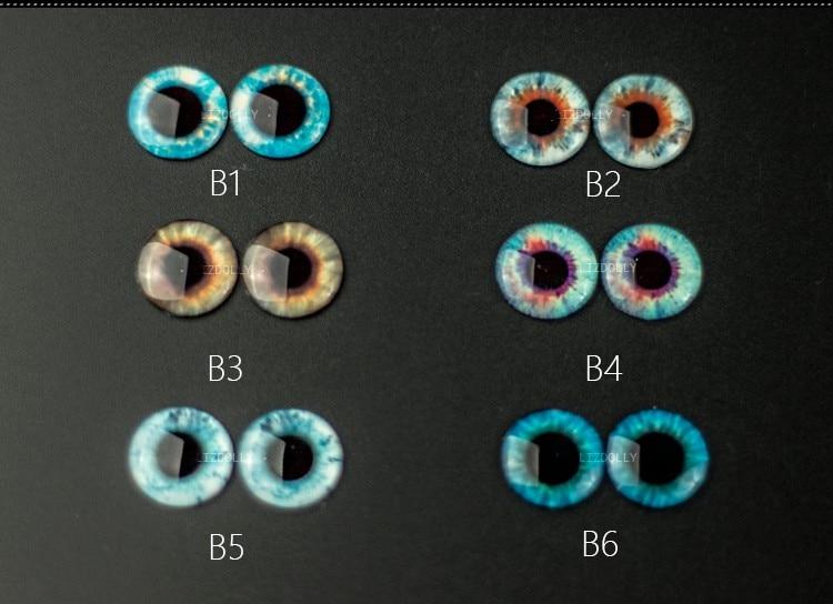 Eye Clips Blyth Doll Eyes 14mm Doll Accessories Doll Pupils Colorful Eyes Free Shipping Blyth Eyes