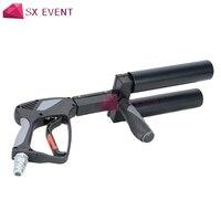 Этап сухой лед CO2 пистолет пистолеты 9 м Haze Jet 2 трубы крио пистолет для танцор диско DJ Вечерние свадебные концерт Хэллоуин