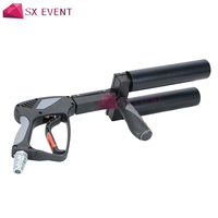Stage Dry Ice CO2 Gun Pistols 9 Meters Haze Jet 2 Pipe Cryo Gun Pistol For Dancer DJ Disco Party Wedding Concert Halloween