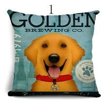 High quality Cute Lovely  dog  Cushion cover  Pillowcase Cushion Car Embroidery Cushion Sofa Decorative almofadas yjzt 14cmx8 2cm lovely smooth haired dachshund dog high quality car sticker c1 9043