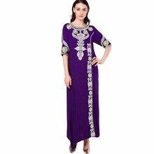 Muslim women embroidery vintage dress (4 colors)