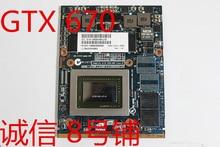 KaiFull original GTX 670M GTX670M GDDR5 VGA Video Card for X875 X870 GPU CARD board V000280680 TESTED GOOD цена