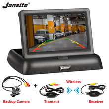 купить Jansite 4.3 TFT LCD Foldable Car Monitor Color Display camera Reverse Camera Paking System For Auto Rearview Monitors NTSC PAL дешево