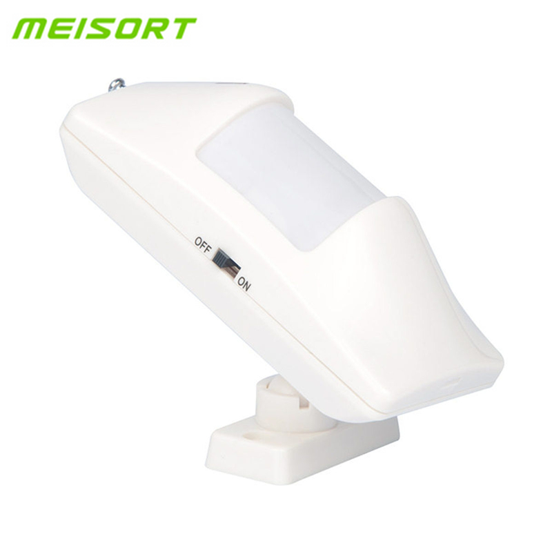 2pcs Lot Meisort 433MHz Intelligent Wireless Infrared detector PIR Motion Sensor Detector For GSM PSTN Home