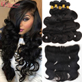 Best Malaysian Body Wave 4 Bundles With Closure Alipearl Hair Lace Frontal Closure With Bundles Pre Plucked Frontal With Bundles