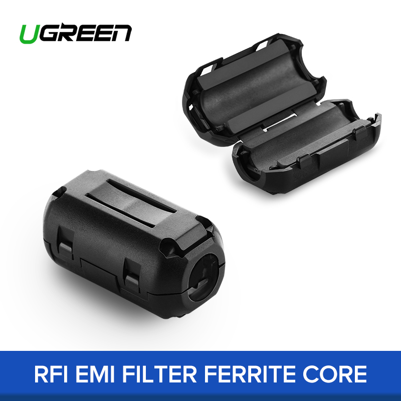 Honest Ugreen 1pcs 5pcs Ferrite Core Cable Filter Nickel-zinc Noise Suppressor Emi Rfi Clip Choke Ferrite Filters For 3.5mm 5mm Cable Good For Antipyretic And Throat Soother Accessories & Parts Back To Search Resultsconsumer Electronics