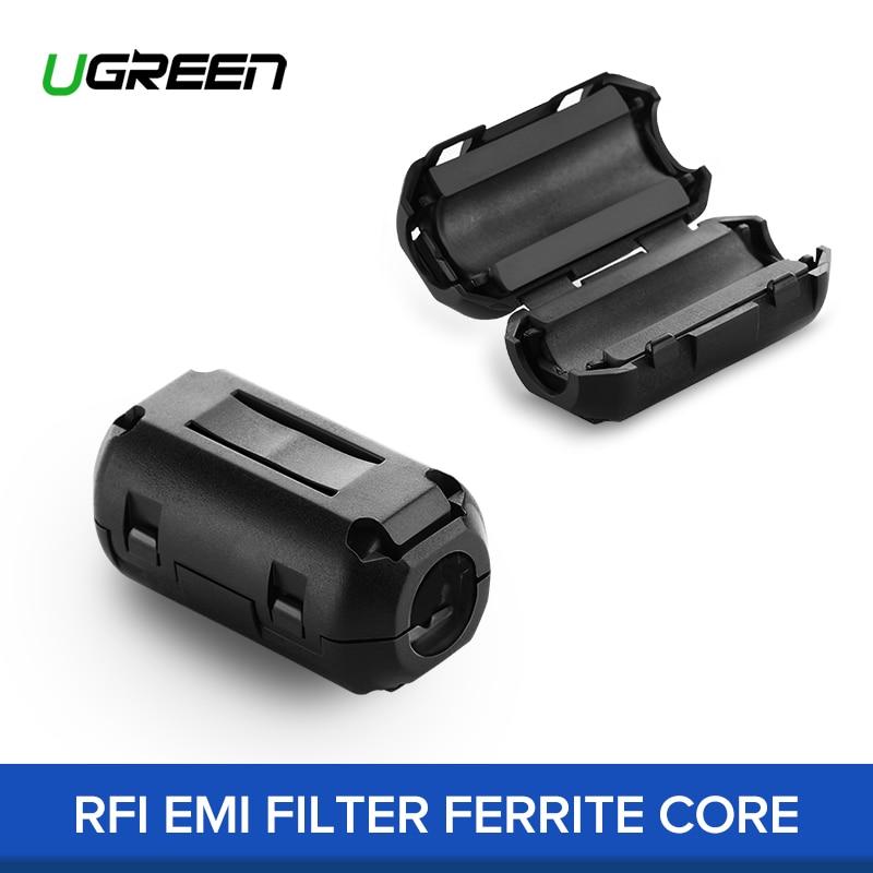 UGREEN 1pcs 5pcs Ferrite Core Cable Filter Nickel-zinc Noise Suppressor EMI RFI Clip Choke Ferrite Filters for 3.5mm 5mm Cable 870 03 002 ac power line filters rfi filter] mr li