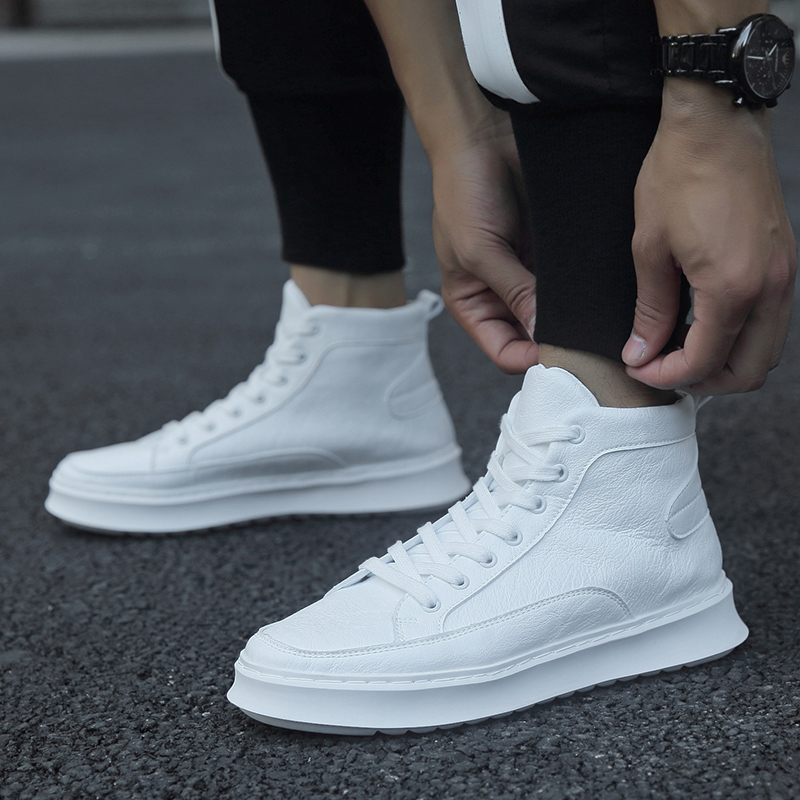 Chaussures tendance homme sans lacet baskets montantes à lacets chaussures décontractées hommes chaussures toile pour hommes baskets cuir Tenis Masculino