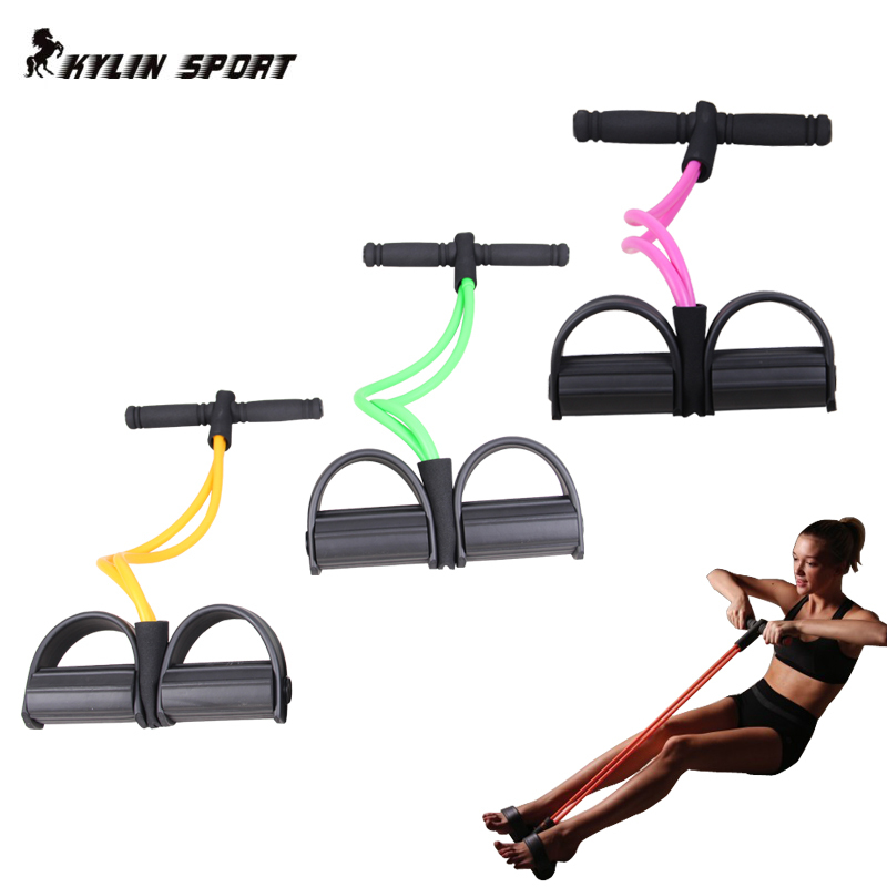 New 2018 Brand Fitness Gear Rubber Leg Pull Exerciser Chest Expander Resistance Bands For Home Gym Workout In From Sports