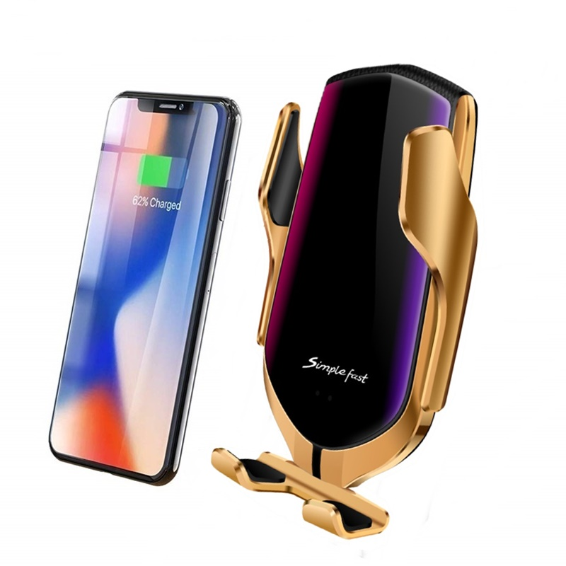 New 10W Car Qi Wireless Charger For Iphone 8 X XS MAX Automatic Car Phone  Holder Fast Wireless Charger For Samsung S9 S10 Plus держатель для смартфона с функцией беспроводной зарядки