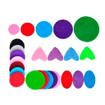 100 sztuk 25mm 30mm mieszane kolorowe elementy dystansowe gruby filc wkładki uzupełniające do aromaterapii OLEJEK ETERYCZNY dyfuzor perfumy medalion naszyjnik