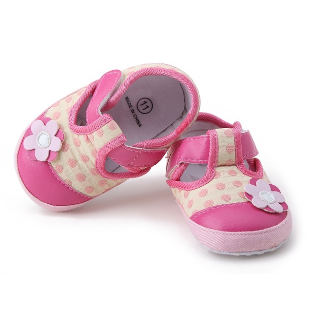 3af4bcfd4732b Newborn Baby Girl Shoes Cute applique Princess Kid Anti-slip On Shoes 0-18  Months Toddler Crib Hook   Loop First Walkers free