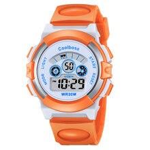 012061255ad7 Azul niños reloj Top marca Coolboss moda niños regalo electrónico LED  Digital relojes impermeable calidad niño niña reloj