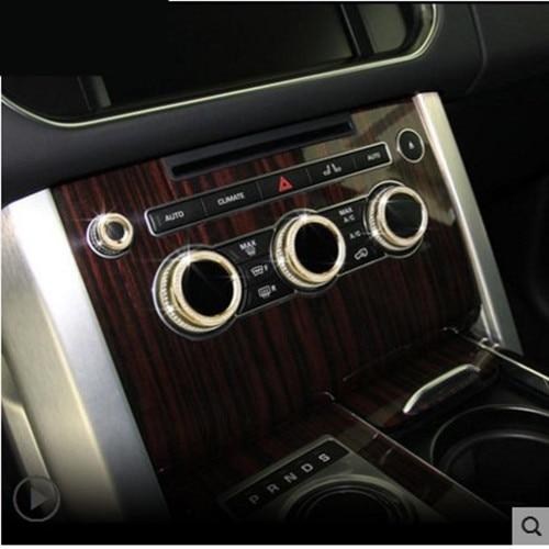 4pcs Car Air Conditioning Volume Knob Decoration Sticker Car-styling For Land Rover Range Rover Sport Evoque accessories pitstop модель автомобиля range rover evoque цвет белый