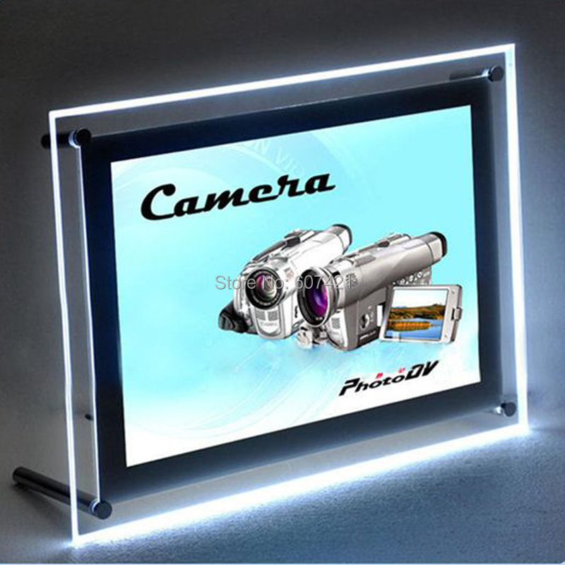A4 Single Sided Tabletop Led Light Box,Illumianted Poster Frames for Cafe,Tea,Retail Stores
