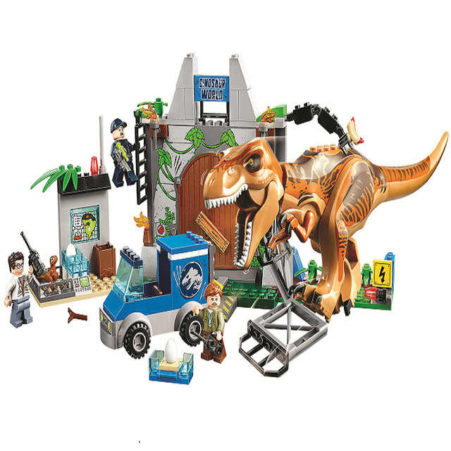 Legoings Jurassic World Dinosaurs Tyrannosaurus Breakout 168pcs Blocks Toy Gifts Compatible Legoing Jurassic Parked dropshipping