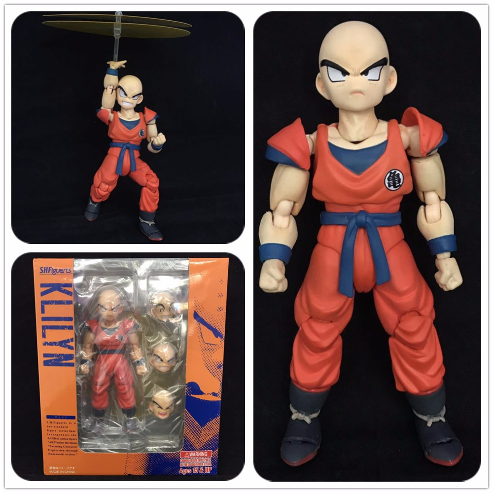 Boxed SHF Dragon Ball Z DBZ KLILYN KURIRIN SHF Movable PVC Action Figure Resin Collection Model Toy Doll Gifts Cosplay anime dragon ball super saiyan 3 son gokou pvc action figure collectible model toy 18cm kt2841