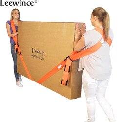 Leewince mover com ferramenta acessórios móveis geladeira cinto corda de náilon linha carga alça ombro mover artefato casa corda