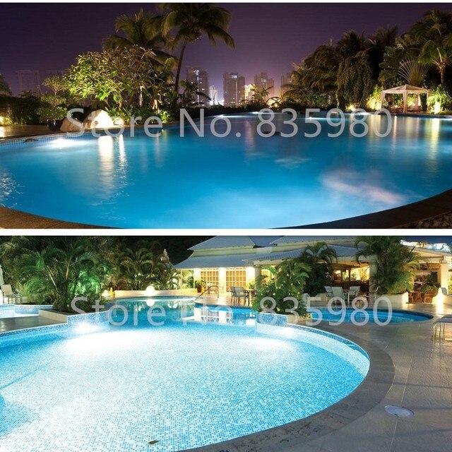 (2 pièces/lot) lampe sous-marine résine Fil LED lumière de piscine étanche DC12V 12W blanc/blanc chaud piscine LED projecteur