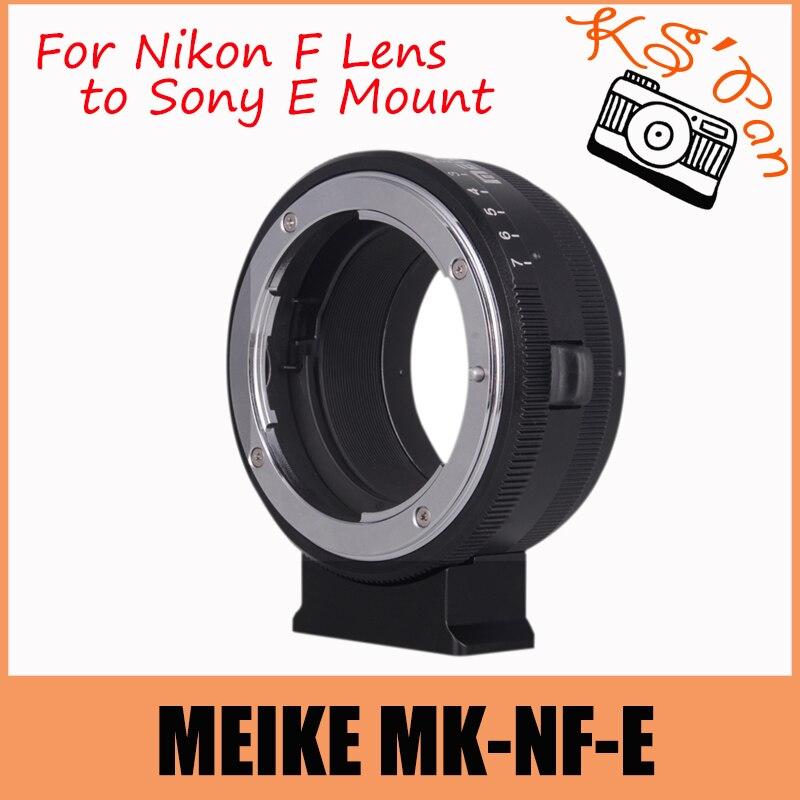 Meike MK-NF-E enfoque manual lente de montaje anillo adaptador para ...