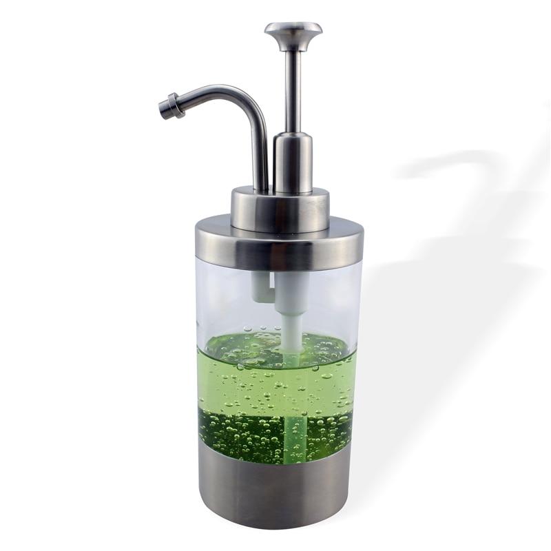 Stainless Steel Soap Liquid Dispenser Pump Bottle Kitchen