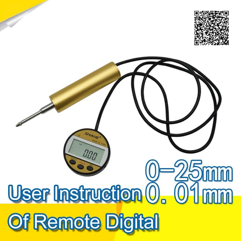 User Instruction of Remote Digital Indicator 0-25mm 0.01mm dail indicator