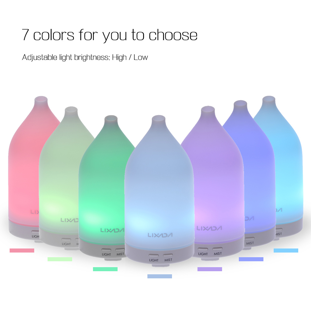 Aroma night lamps - New Tomshine Aroma Diffuser 100ml Air Humidifier Led Night Light Color Changing Multicolored Brightness Adjustable Kid S
