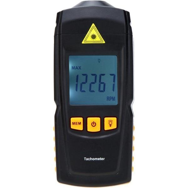 GM8905 Non-Contact Handheld LCD Digital Laser Tachometer RPM Tach Tester Meter Motor Speed Gauge  цены