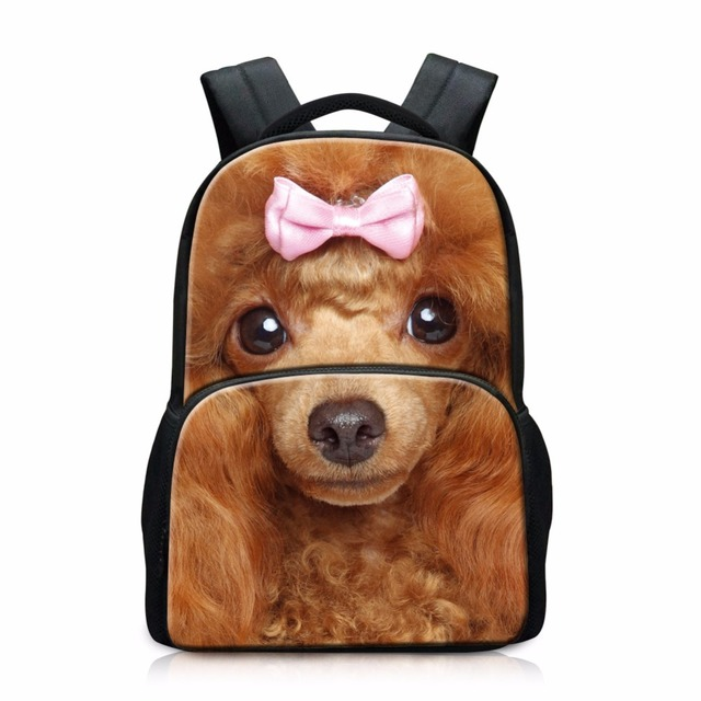 Fashionable back to school book bags Personalized Dog Backpacks for Teenager Girls Animal Print youth school backpacks daypacks
