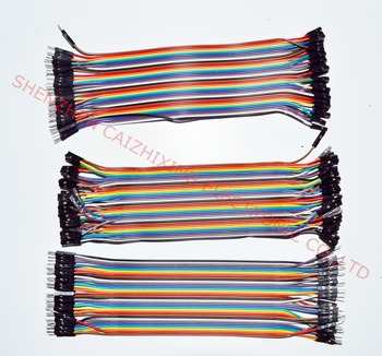 цена на Dupont line 120pcs 20cm male to male + male to female and female to female jumper wire Dupont cable for Arduino