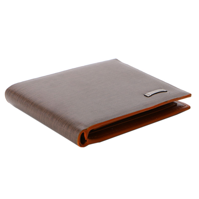 THINKTHENDO Men Trifold Business Leather Wallet Credit Card Holder Coin Pocket Money Purse p kuone business men purse famous luxury brand coin credit card holder male travel long wallet passport cover leather money bag