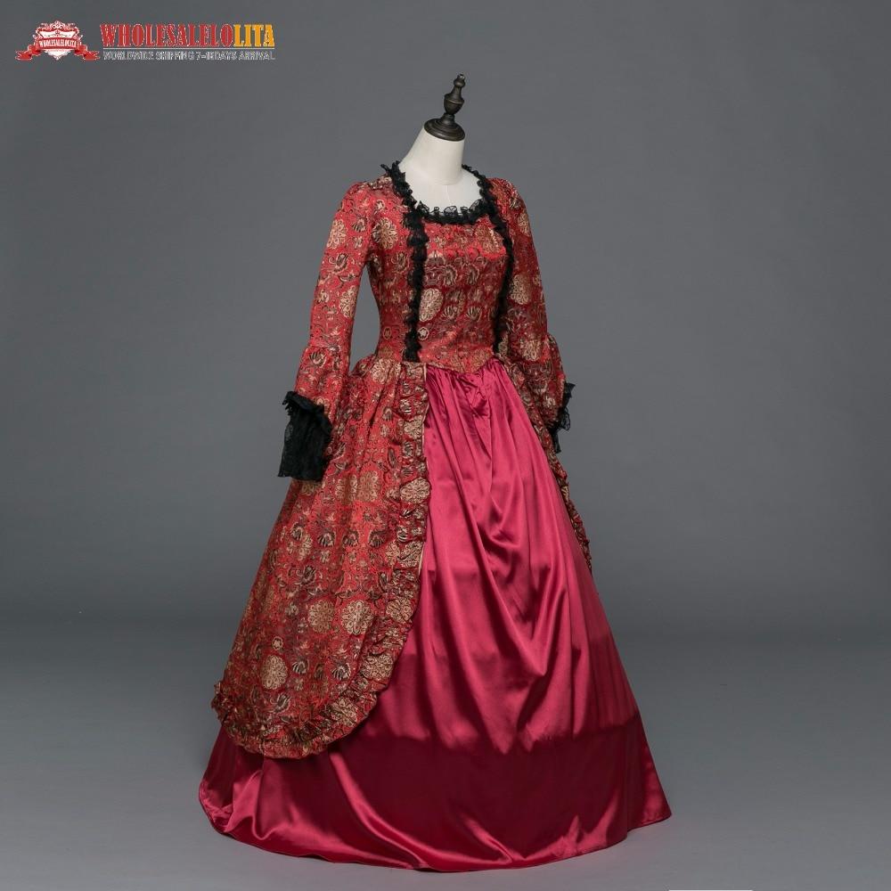 Marie Antoinette Colonial Dark Dress Ball Gown Steampunk Halloween ...