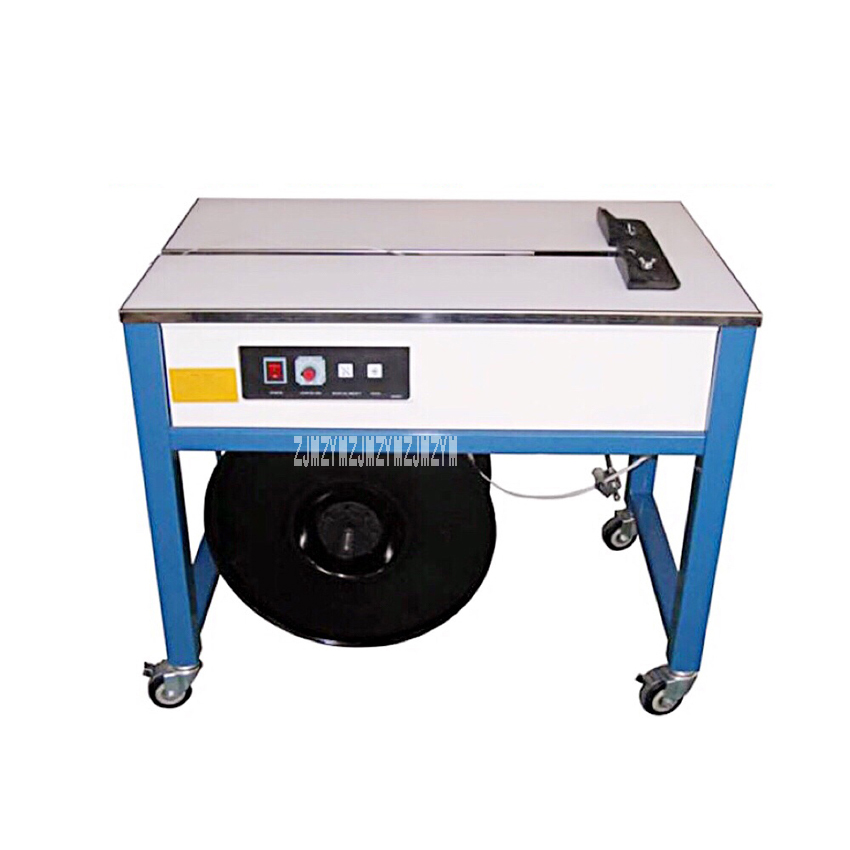 Professional Double Motor Semi-automatic Strapping Machine High Table Carton Case Strap Packing Machine 110V/220V 300W 1.2s/bar