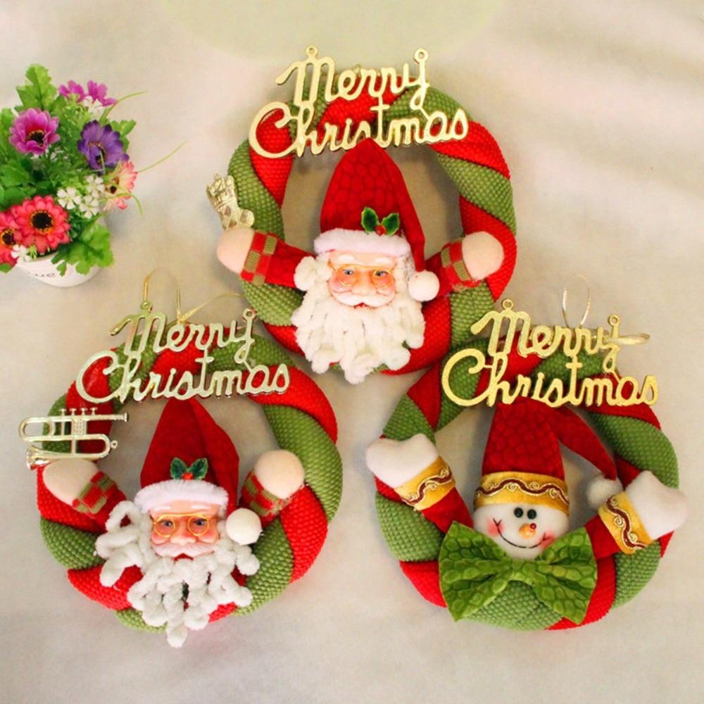 Nueva Tela Mueco de Nieverbol de Navidad de Santa Claus Adornos