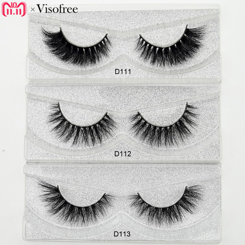 Visofree Mink Eyelashes 3D Mink Lashes Thick HandMade Full Strip Lashes Cruelty Free Luxury Mink Lashes 27 Style False Eyelashes цена