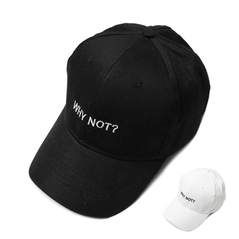 التطريز قبعة بيسبول إلكتروني لماذا لا قبعات للآباء النساء الورك البوب الرجال الذكور Snapback قبعة الفتيات الفتيان القطن العظام قبعات Cassquette أوم